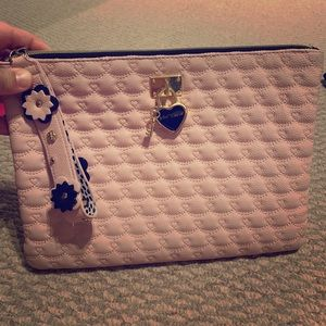 Betsy Johnson Large Quilted clutch!